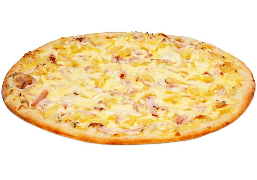 гавайская пицца с ананасами и курицей рецепт с фото